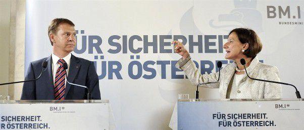 """""""Wir müssen die Täter rasch erkennen und aus dem Verkehr ziehen"""", fordert Johanna Mikl-Leitner am Mittwoch in Wien. Foto: apa"""