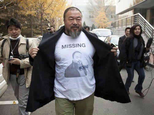 Ai Weiwei: Beweis, dass es Gerechtigkeit in China nicht gibt. Foto: AP