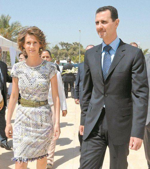 Baschar al-Assad mit seiner Ehefrau Asmaa. Foto: EPA