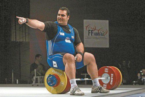Behdad Salimikordasiabi, Stemmer-Schwergewicht aus dem Iran, will Matthias Steiner vom Thron stürzen. Foto: ap