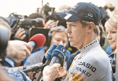 Bei Ferrari-Fragen vorsichtig: Sebastian Vettel. Foto: apa