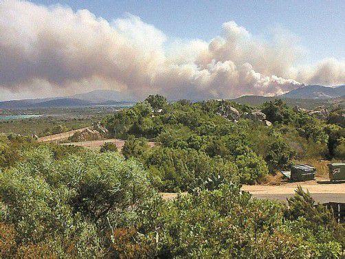 Besonders betroffen ist die Region von San Teodore südlich von Olbia an der sardischen Nordostküste. Foto: EPA