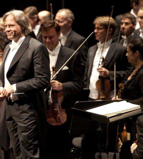 Bregenz am 10.8.2009. Bregenzer Festspiele Orchesterkonzert.