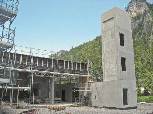 Das neue Lorünser Gemeindezentrum nimmt immer konkretere Formen an. Foto: Gemeinde