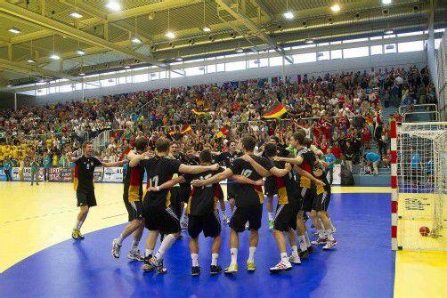 Der Jubel bei den deutschen Spielern nach dem Finalsieg war riesengroß. Foto: paulitsch