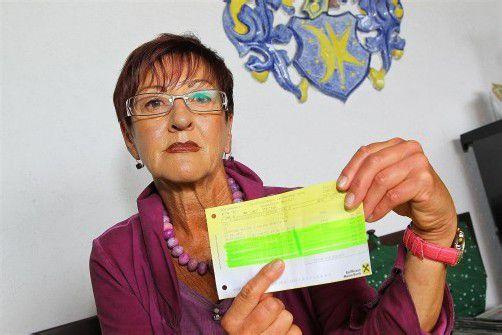 Der Schock traf die Pensionistin Traudl Loacker bei der Durchsicht ihrer Kontoauszüge. FotoS: vn/hOFMEISTER