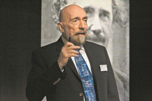 Der US-amerikanische Physiker Kip S. Thorne nahm seine Zuhörer mit auf eine erstaunliche Reise ins Universum. Foto: vn/hartinger
