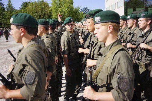 Die Ehrenkompanie des Militärkommandos rückte aus.
