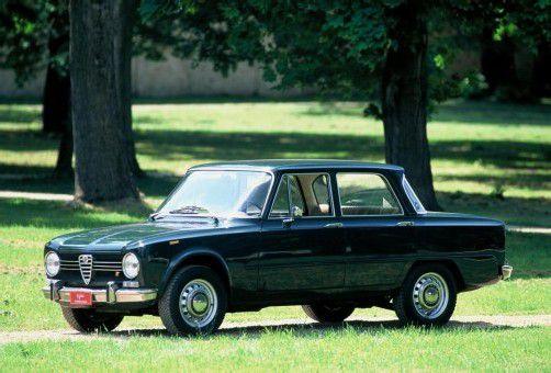 Die Giulia 1962 in Monza: Vier Türen, viel Platz und 92 PS.