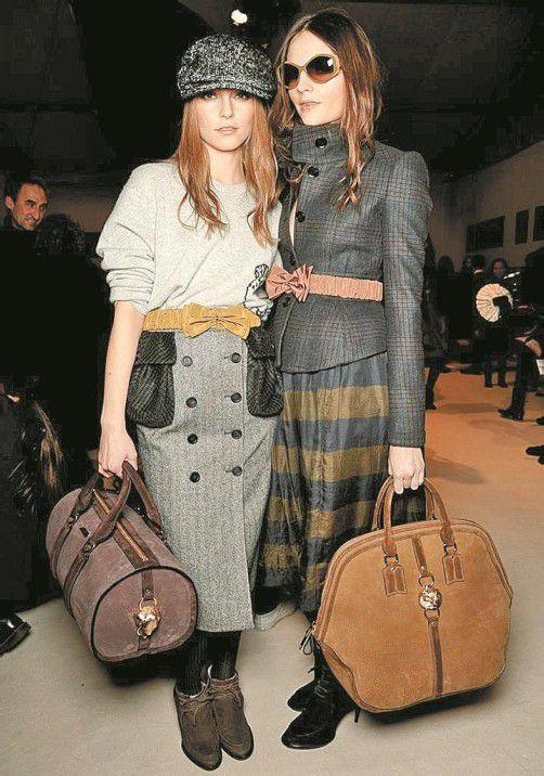 Die Models hinter den Kulissen der Burberry Prorsum-Fashion Show in London. Foto: gorunway.com