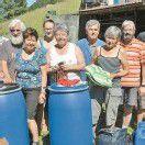 Dalaaser Hilfscontainer zur Verfrachtung bereit