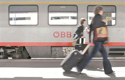 Die Österreichischen Bundesbahnen wollen heuer schwarze Zahlen schreiben. 2010 betrug der Verlust noch 329 Millionen. Foto: Reuters