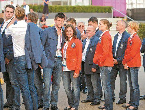 Einzug ins olympische Dorf: Tennis-Asse Tamira Paszek und Jürgen Melzer. Foto: ÖOC/Erich Spiess
