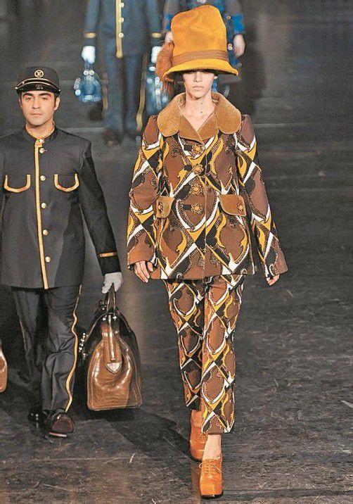Extravagant und mondän: Die Louis-Vuitton-Modeschau protzte mit ganzflächigen Drucken. Fotos: Gorunway.com