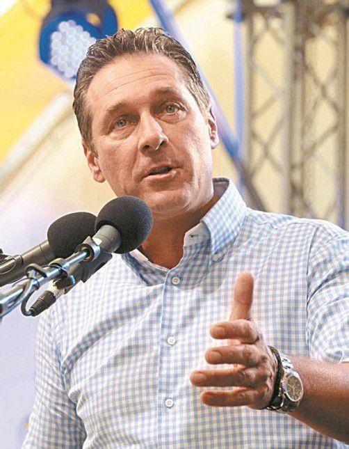 FPÖ-Chef Strache nennt Ziel für Nationalratswahl. Foto: DAPD
