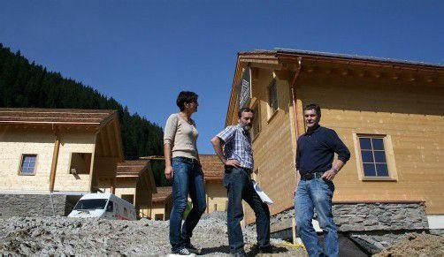 """Fünf Gebäude des """"Walserdorfs"""" wurden bis dato errichtet. Ein Dutzend sollen es werden."""