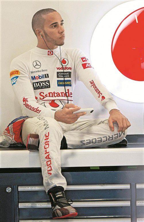 Grand Prix Nummer 100: Lewis Hamilton. Foto: ap