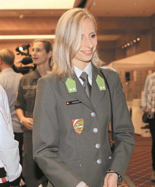 HLSZ-Sportlerin Caroline Weber in ihrer A-Uniform. Foto: diener