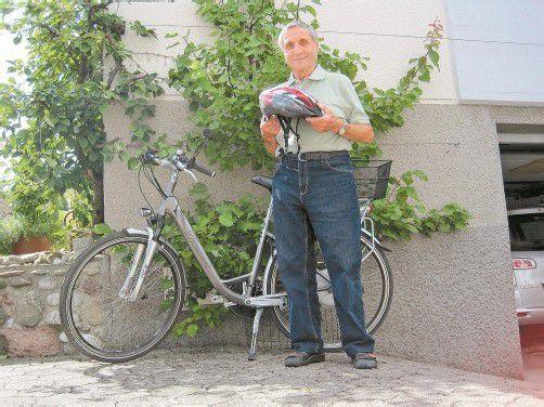 Helmut Thurnher hatte Glück bei seinem Fahrradsturz. Foto: VN/HEY