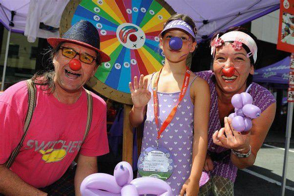 Im Mittelpunkt des Schokofests: Spiel und Spaß für Jung und Alt.