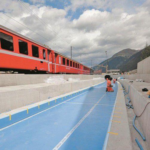 Know-how aus Vorarlberg für die Rhätische Bahn. Foto: getzner