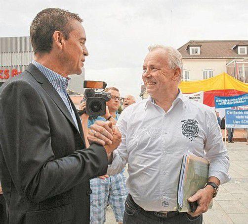 Landeshauptmann Dörfler (r.) mit seinem Vize Scheuch. Foto: APA