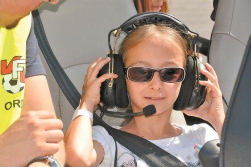 Martina genoss den Ausflug in schwindelerregende Höhen in vollen Zügen. Foto: sdh