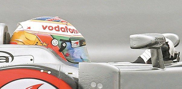 Mitgefühl für de Villota, Hamilton fuhr mit gelbem Stern. foto: apa