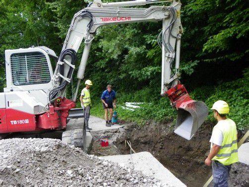 Neue Leitungen wurden im Sandgrubenweg verlegt.