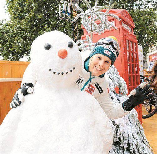 """Niki Hosp fühlte sich im """"Londoner Winter"""" wohl. Fotos: ÖOC/Spiess"""