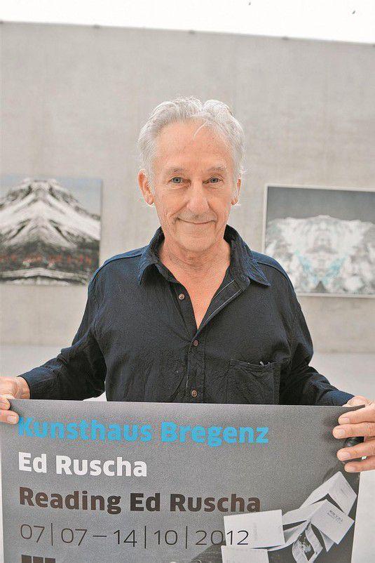 Noch bis Mitte Oktober ist die Ausstellung von Ed Ruscha (im Bild) im Kunsthaus zu sehen. Foto: Rudolf Sagmeister