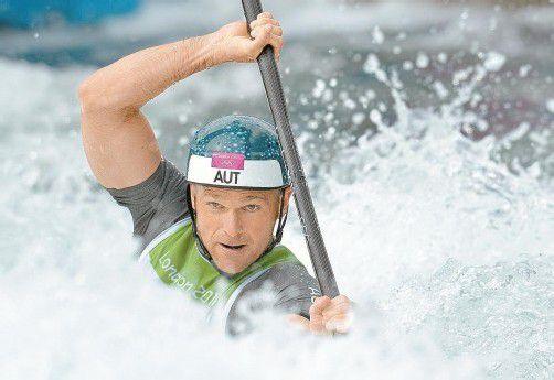 Noch mehr Schwierigkeiten warten im Finalkurs des Wildwasser-Kanals auf Helmut Oblinger. Foto: apa