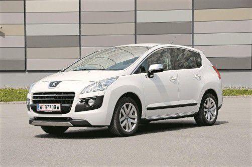 Peugeot 3008 Hybrid4: erster Dieselhybrid in Großserie, im Bedarfsfall auch Allradler. Fotos: VN/Gasser