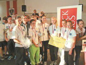 Schulolympics-Gold für die Emser Mädchen