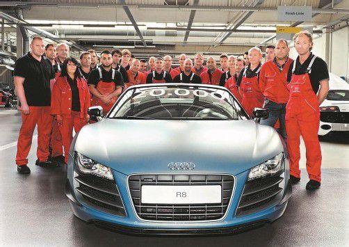 Produktionsjubiläum bei Audi in Neckarsulm. In der Manufaktur ist diese Woche der 20.000ste Audi R8 vom Band gelaufen.