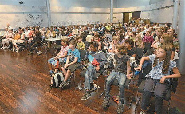 Projektvorstellung im WIFI: Für Kinder und Lehrer gab es viel Lob und Anerkennung. Foto: VN/Stiplovsek