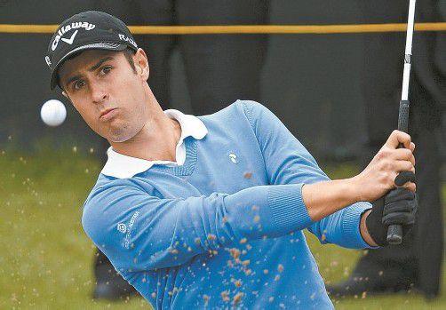 Prüfender Blick von Manuel Trappel – auf der zweiten Runde bei den British Open musste er unten durch. Foto: ap