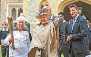 Olympiaflamme bei der Queen