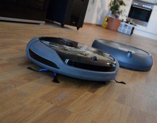 Samsung Navibot und iRobot Scooba – zwei Haushaltsroboter stellten sich dem VN-Praxistest. Foto: VN/Dünser