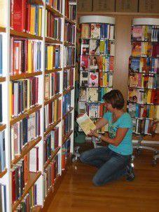 Bücherei als gefragte Sache