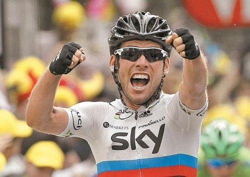 Siegespose von Sprint-Ass Mark Cavendish. Foto: reuters