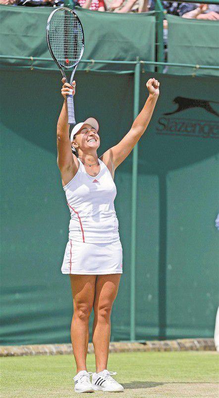 Tamira Paszek hat heute die Chance, zum zweiten Mal in ihrer Karriere in das Viertelfinale in Wimbledon einzuziehen. Foto: ap