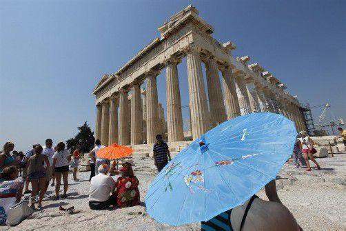 Temperaturen bis zu 42 Grad: Das war auch für die Akropolis zu viel.