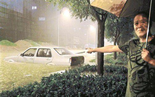 Unglaubliche Mengen an Regenwasser führten zu schweren Überschwemmungen in der chinesischen Hauptstadt. Foto: Reuters
