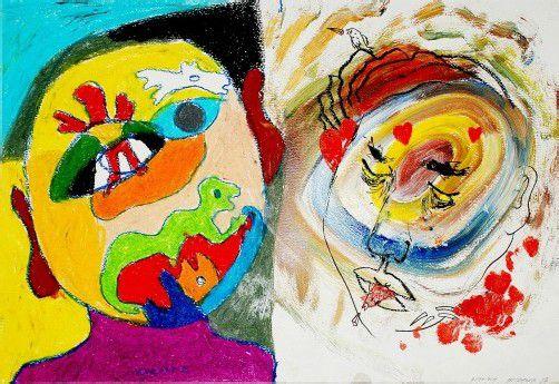 """Unter dem Titel """"Das große Zweiern"""" präsentieren Christian Ludwig Attersee und Michael Vonbank Gemeinschaftsarbeiten, welche von 2005 bis 2012 entstanden sind, in der K12 Galerie in Bregenz. foto: attersee/Vonbank"""