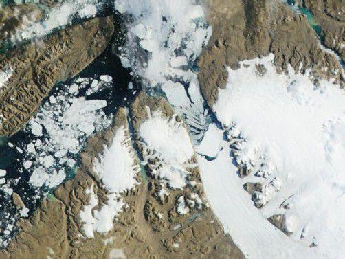 Vom Petermann-Gletscher ist erneut ein gigantisches Stück abgebrochen. Foto: rts