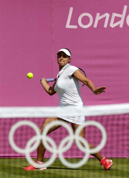 Zahlte Lehrgeld bei ihrem ersten Olympia-Auftritt: Tamira Paszek. Foto: diener