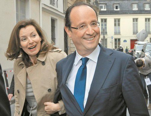 Zuletzt hing der Haussegen schief: Frankreichs Präsident Hollande mit seiner Lebensgefährtin Valérie Trierweiler. Foto: DAPD