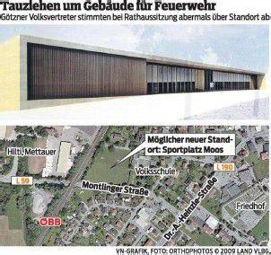 Götzis: Feuerwehrhaus weiter ein Streitthema