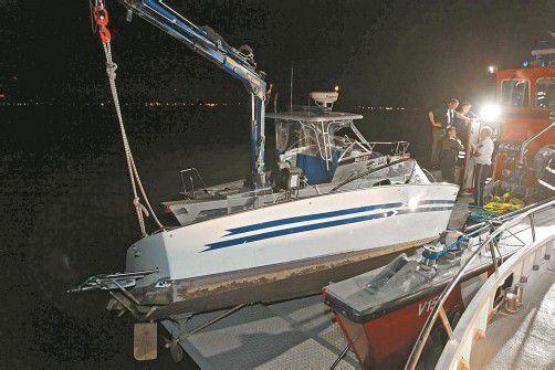 gesunkenes Boot in Bregenz